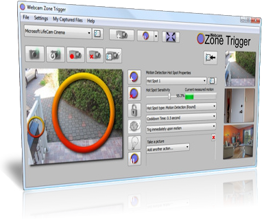 Webcam and IP cam motion detection software